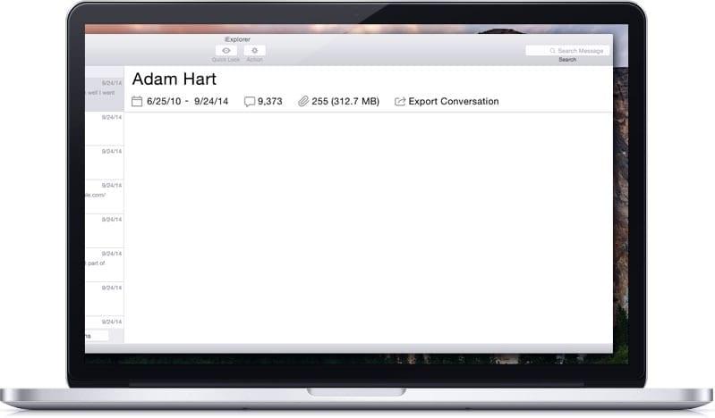 Export Messages from iExplorer