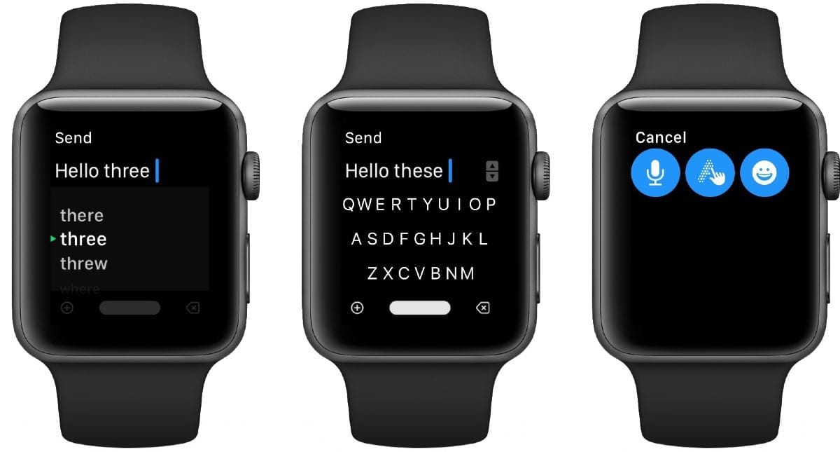 FlickType on Apple Watch