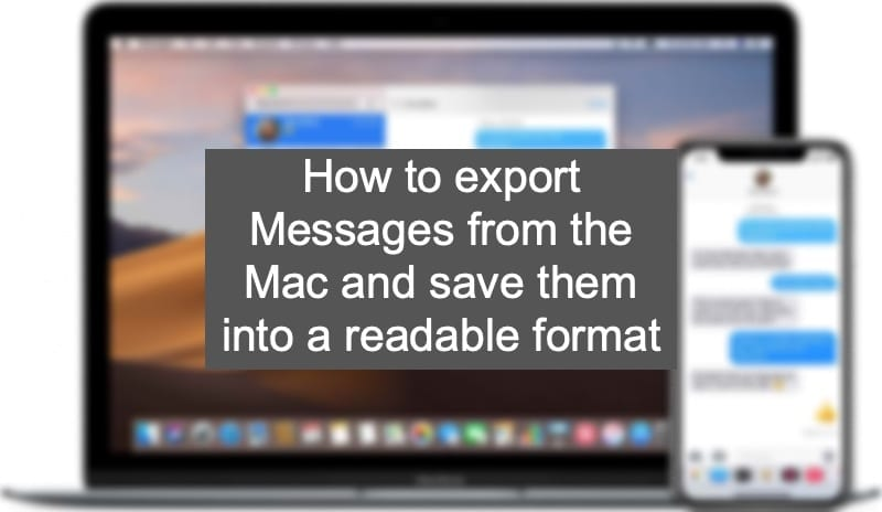 How to export Messages from the Mac and save them into a readable format Hero