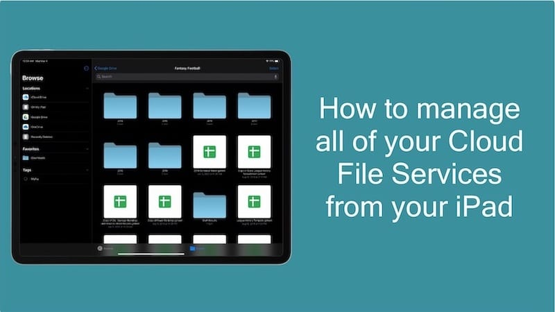 How to manage all of your Cloud File Services from your iPad Hero