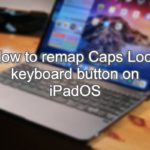 How to remap Caps Lock keyboard button on iPadOS