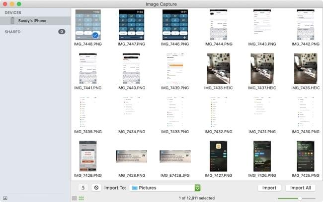 Image Capture Import Mac