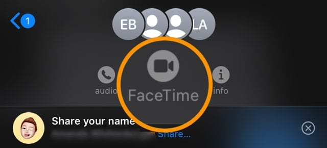 make group FaceTime call from messages app