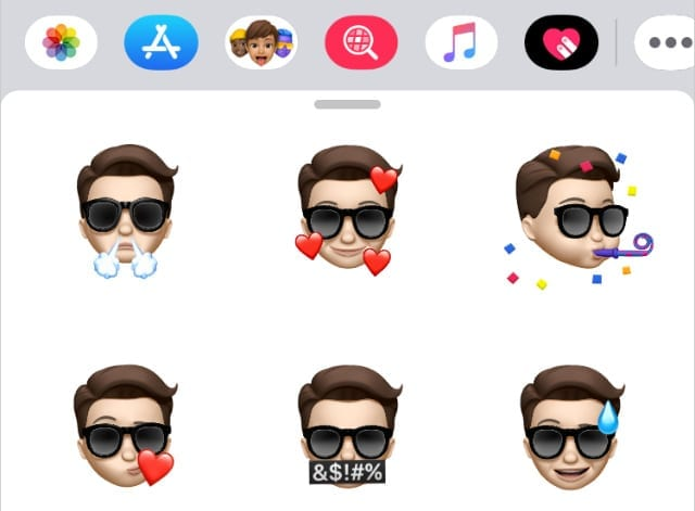 New Memoji stickers in iOS 13.4