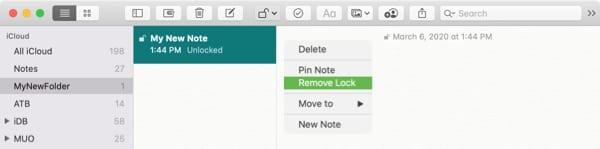 Remove Lock Notes-Mac