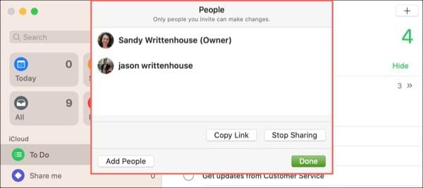 Shared People Reminders List-Mac