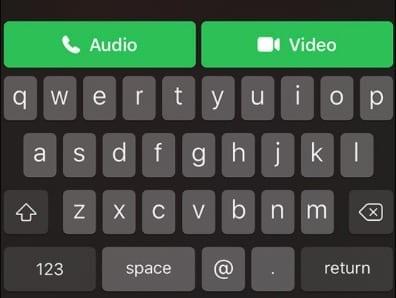 Start Video Call FaceTime