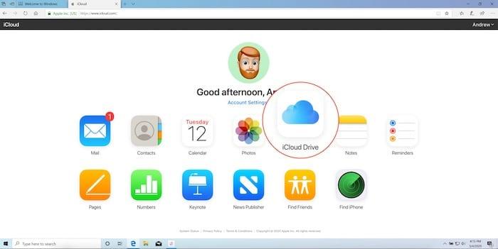 iCloud on the Web