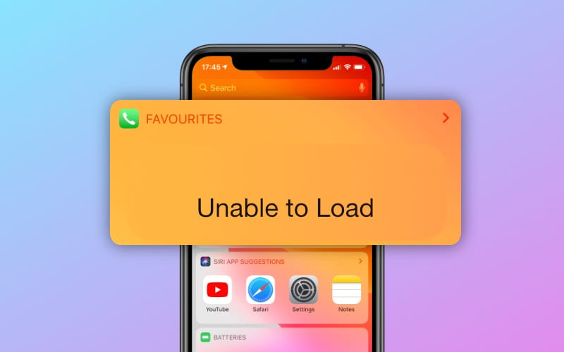 iPhone Favorites widget unable to load? Here are 4 ways to fix it