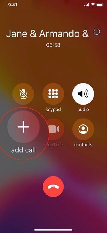 Add callers to conference call iPhone 1