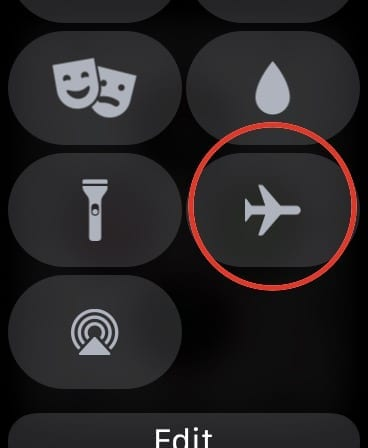 Airplane Mode Toggle on Apple Watch