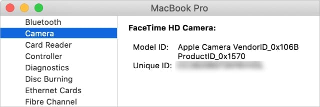 Camera System Report on Mac