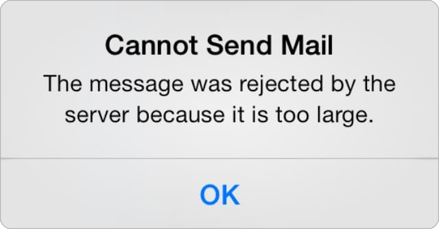 Cannot Send Mail message from iPhone