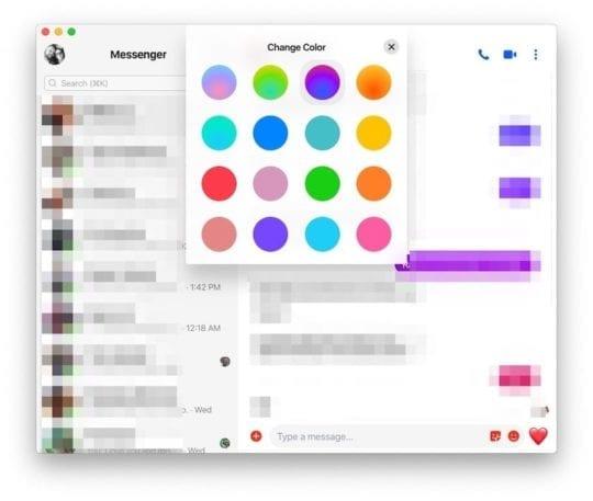 Change Chat colors FB Messenger
