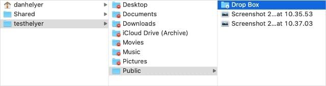 Drop Box folder in Finder