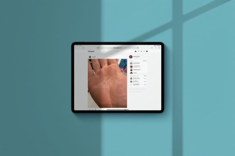 Instagram Web on iPad Pro