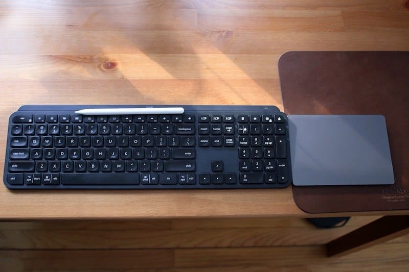 MX Keys and Trackpad 2 Side by Side