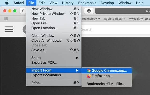 import chrome information including passwords into Safari and iCloud Keychain