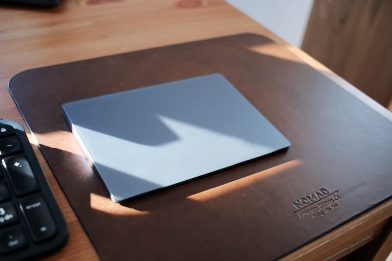Magic Trackpad 2 on Nomad Leather Mousepad
