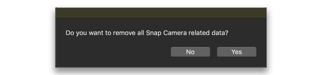 Remove all of Snap Camera data from Mac when uninstalling
