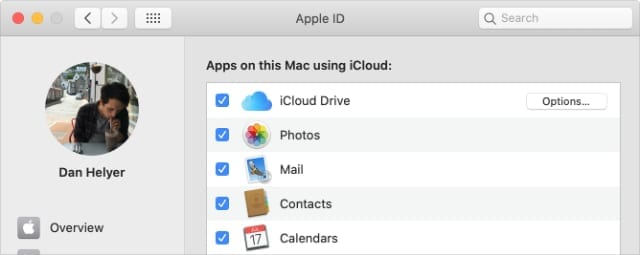 Apple ID iCloud System Preferences