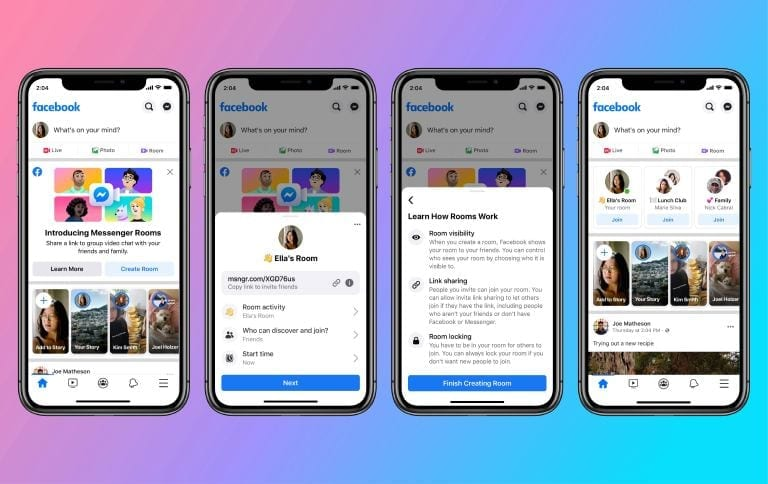 Create Messenger Rooms from Facebook App