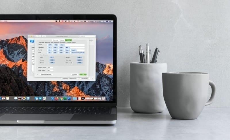 Customize Times MacBook