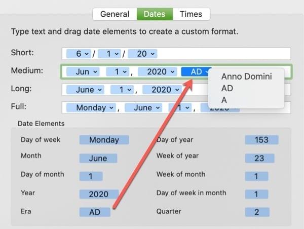 Date Display Add Element-Mac