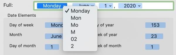 Date Display Day Abbreviation-Mac