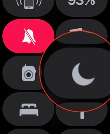 Do Not Disturb Toggle on Apple Watch