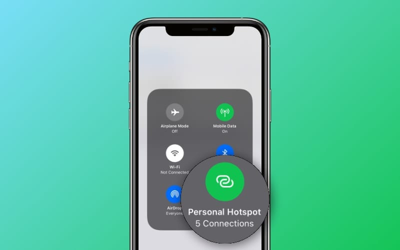 Find out what devices are connected to your iPhone's Personal Hotspot