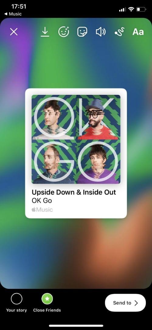 Instagram Apple Music story