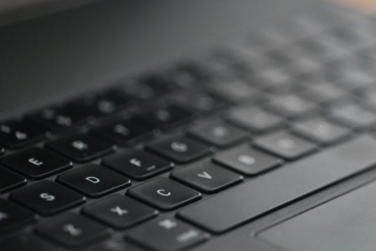 Magic Keyboard for iPad Pro Keys Closeup