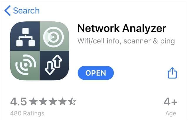 Network Analyzer in App Store