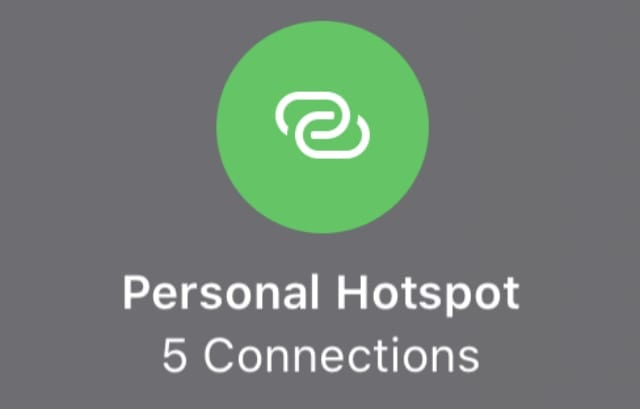 Personal Hotspot with 5 Connections