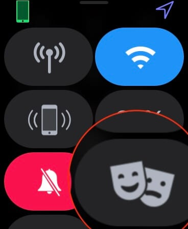 Theatre Mode Toggle on Apple Watch