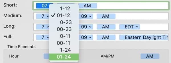 Time Display 24 Leading Zero-Mac