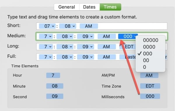 Time Display Add Element-Mac