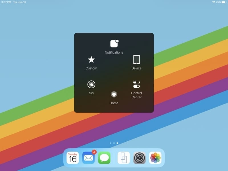 AssistiveTouch Menu-iPad