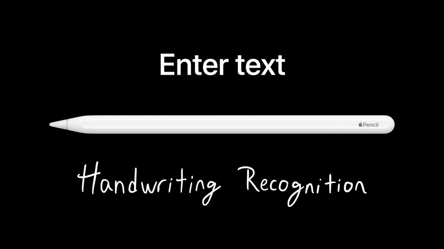 Handwriting Recognition Apple Pencil