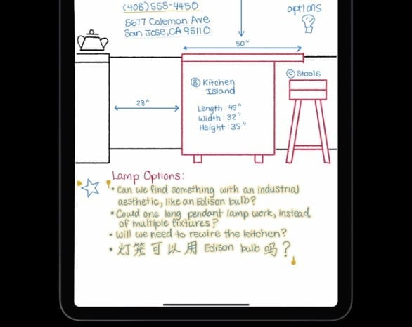 Scribble on iPadOS 14 in Notes App