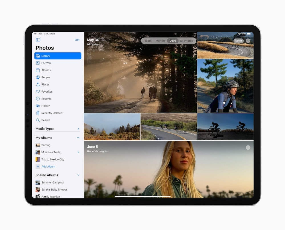 iPadOS 14 Photos Redesign