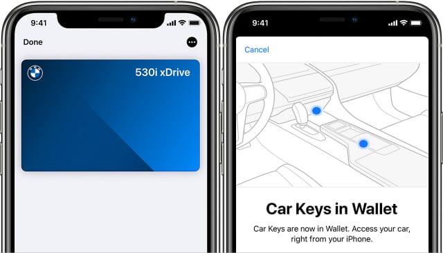 Apple Car Key in Wallet app on iPhone