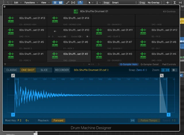 Drum Machine Designer in Logic Pro X