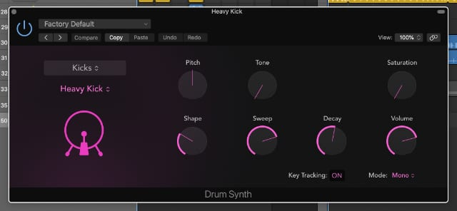 Drum Synth in Logic Pro X