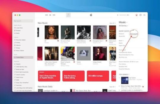 Open Account in Music App