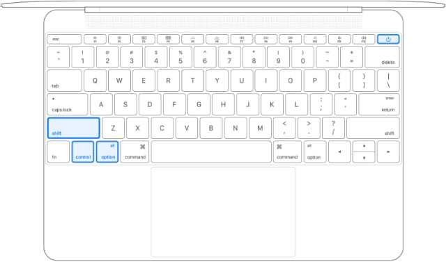SMC reset buttons for non-T2 MacBook