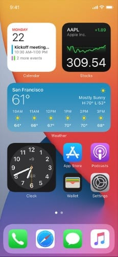 Widgets on iOS 14 Home Screen