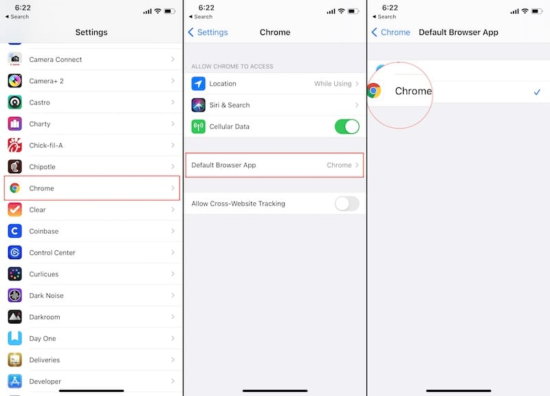 Change your Default Browser iOS 2