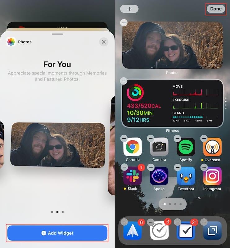 Customize the Photos Widget 2